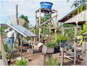 Solar PV panels for improved animal farming (light and water pumping) and crop irrigation: crucial in dry climates